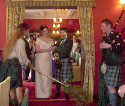 Handfasting Wedding Ceremony on Highland Blessings   Scottish   Celtic Handfasting Wedding And Jumping